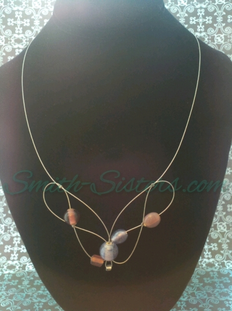 Purple Infinity Necklace by Smith-Sisters