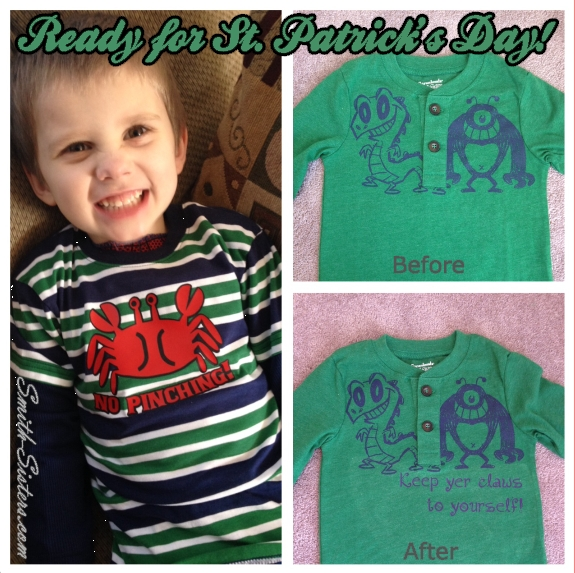 St Patricks Day shirts Logan and Blake